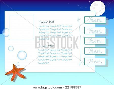 Underwater Themed Website Template