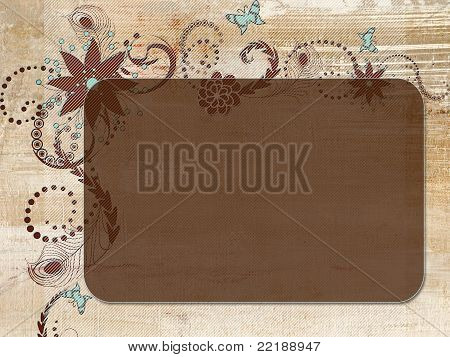 Floral Background with space for writing