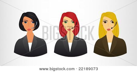receptionists icons