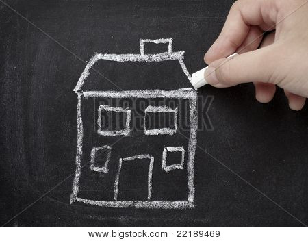 Chalkboard House Home Real Estate Architecture Construction