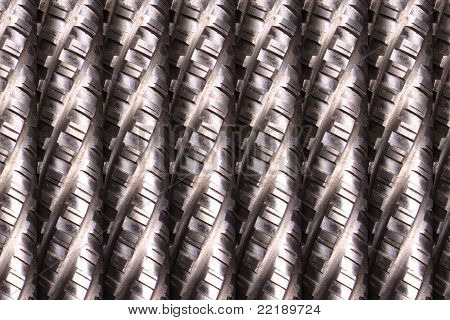 Metallic Rods Background