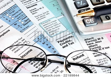 Financial Papers. Business Concept