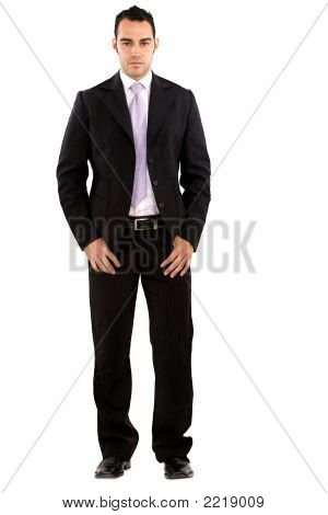 Confident Business Man Standing