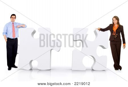 Geschäftliche Partnerschaft - Puzzle