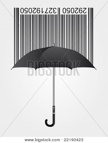 Umbrella and barcode