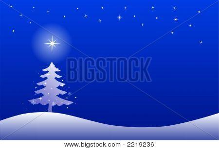 Einfache Winternacht Landschaft