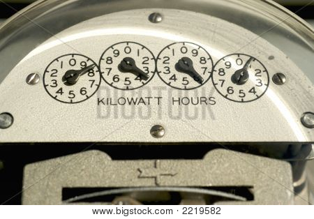 Electric Meter Close-Up