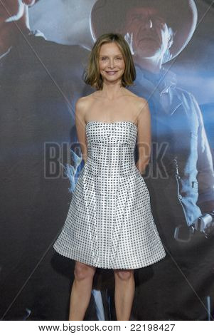 "SAN DIEGO, CA - JULY 23: Calista Flockhart arrives at the world premiere of ""Cowboys and Aliens"" on July 23, 2011 at the Civic Theatre in San Diego, CA."
