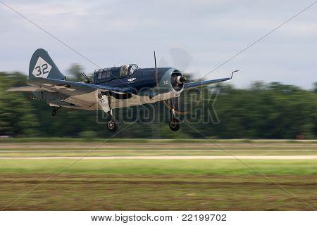 Curtis Helldiver torpedo bomber