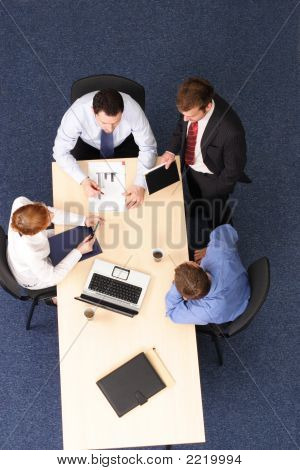Audit - Four Business People Meeting