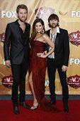 LAS VEGAS - DEC 6: Hillary Scott, Dave Haywood, Charles Kelley at the 2010 American Country Awards h