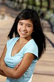 pic of 16 year old  - a 16 year old model smiling and posing for her portrait - JPG