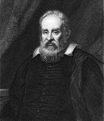 Galileo Galilei (1564-1642). Engraved by R.Hart and published in The Gallery Of Portraits With Memoi