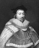 Edward Coke (1552-1634). Engraved by J.Pofselwhite and published in The Gallery Of Portraits With Me