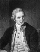 Captain Cook (1728-1779). Engraved by E.Scriven and published in The Gallery Of Portraits With Memoi