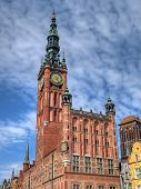 picture of polonia  - An old city hall in Gdansk Poland - JPG
