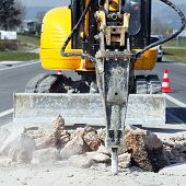 yellow jackhammer