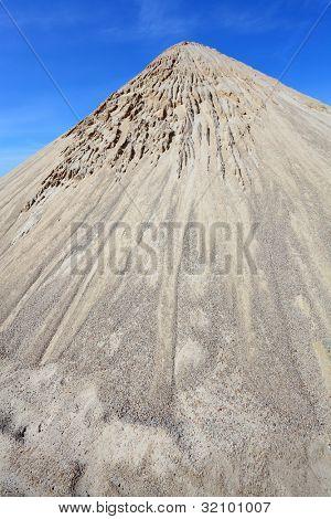 High peak. Damaged landscape after deforestation.