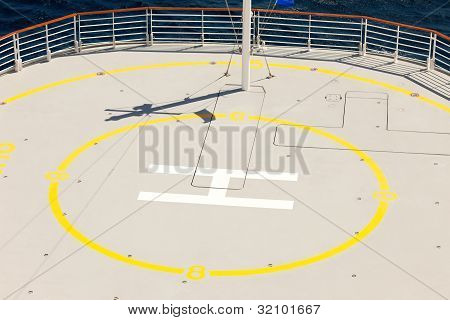 Heliport Landing Area On Cruise Ship