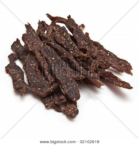 Biltong, South African beef jerky.