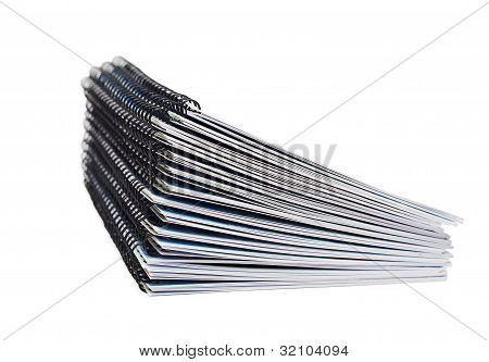 Stack Of Papers With The Binding