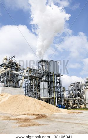 Woodchip production, industry