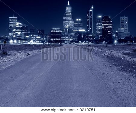 A Road Leading To A City
