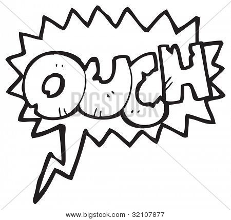 cartoon ouch shout