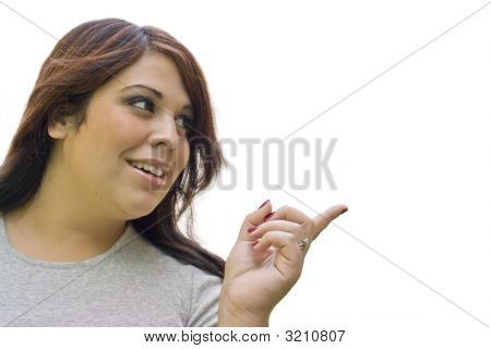 Woman Pointing Right