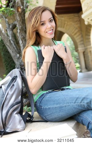Pretty Woman On College Campus