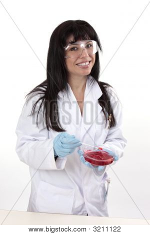 Female In Laboratory