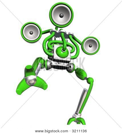 Musik-Roboter-grün