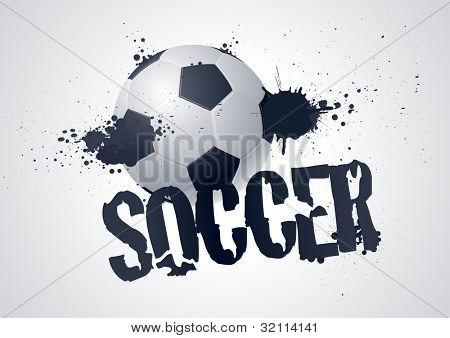Grunge Soccer Design vector illustration
