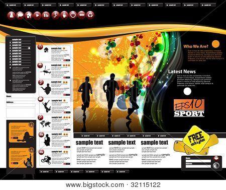 web site design template, vector illustration