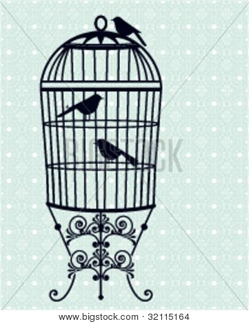 Birdcage, birds wallpaper