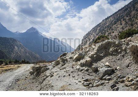 Road In Himalaya Mountains