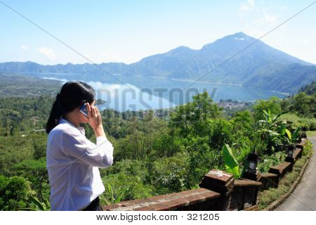 Asian Woman Making A Phone Call