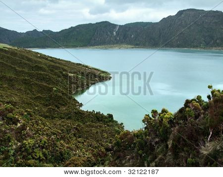 Lakeside Scenery At The Azores