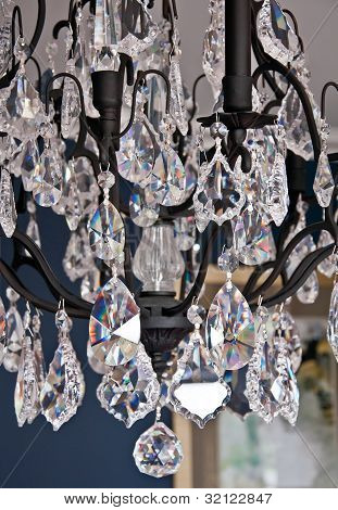 Closeup Of Crystal Chandelier