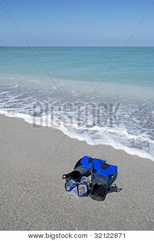 Snorkeling gear at the beach