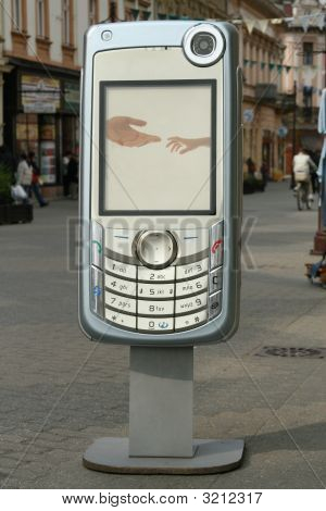 Mobile Phone On The Street