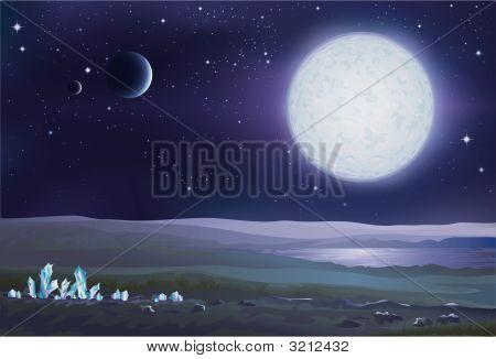 Alien Crystals Landscape