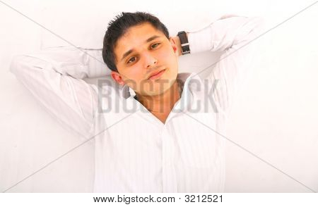 Young Man Laying Down