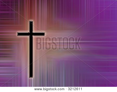 Cross And Colorful Background