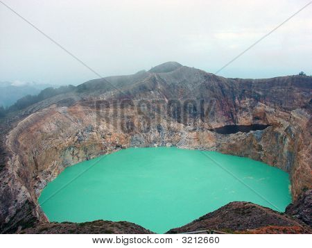 Kelimutu Volcano In Central Flores Island Of Indonesia