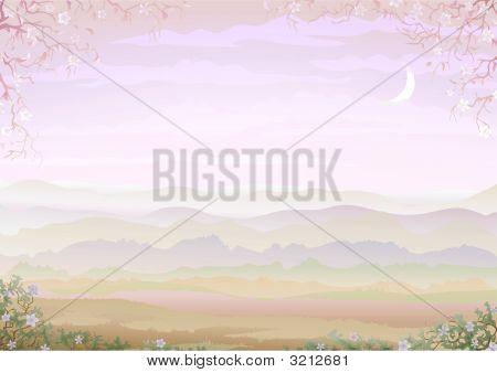 Pastel Framed Landscape