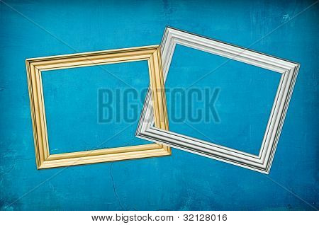 Blu Background With Two Frames