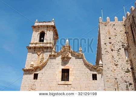 Saint Andrews Church (saint Andreus Church) In Peniscola, Spain