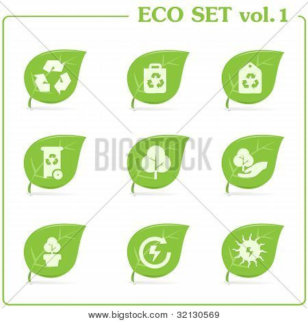Vector ecology icon set. Vol. 1
