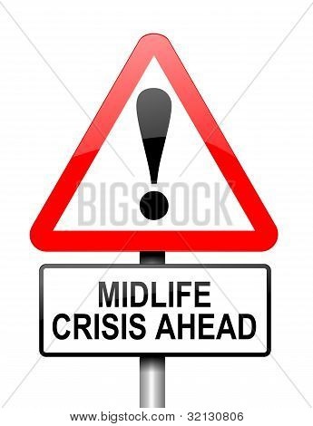 Midlife-Crisis-Konzept.